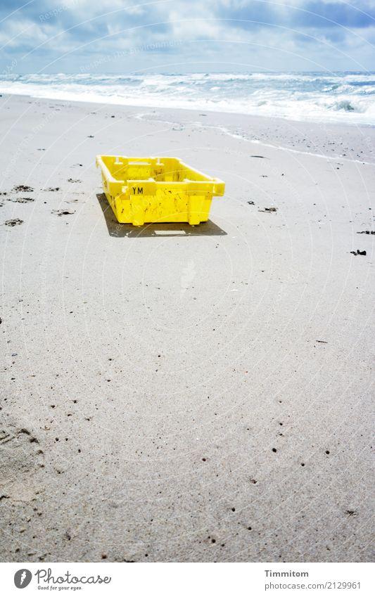 YM bitte melden! Ferien & Urlaub & Reisen Umwelt Natur Urelemente Sand Wasser Himmel Wolken Schönes Wetter Strand Nordsee Dänemark Kiste Kunststoffbehälter