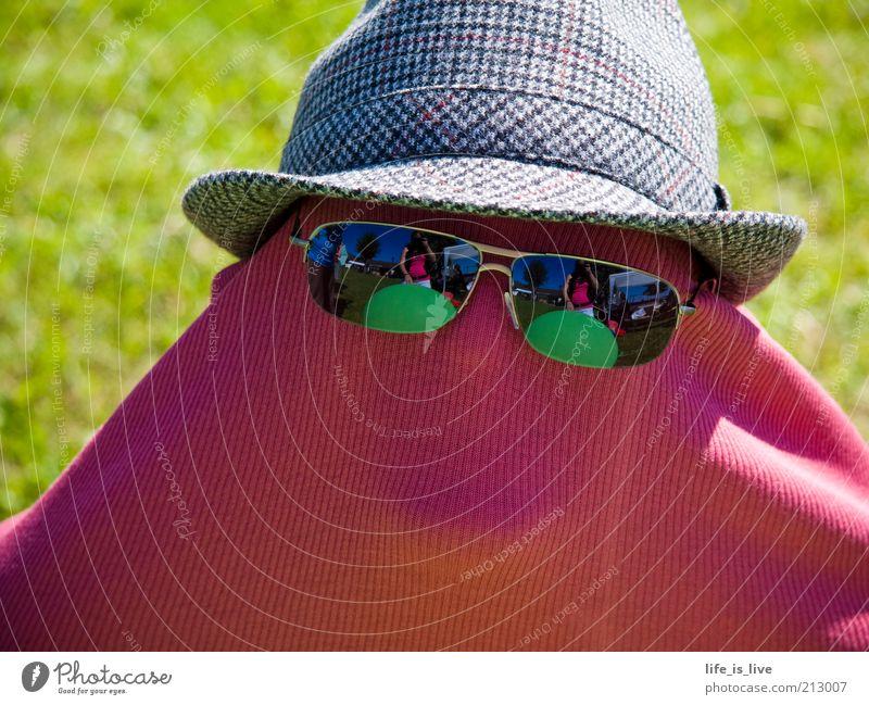 """das wahre """"ICH"""" Maske Karneval einzigartig außergewöhnlich Hut verstecken Kreativität Sonnenbrille anonym fremd Feste & Feiern verkleiden unsichtbar Spaßvogel"""