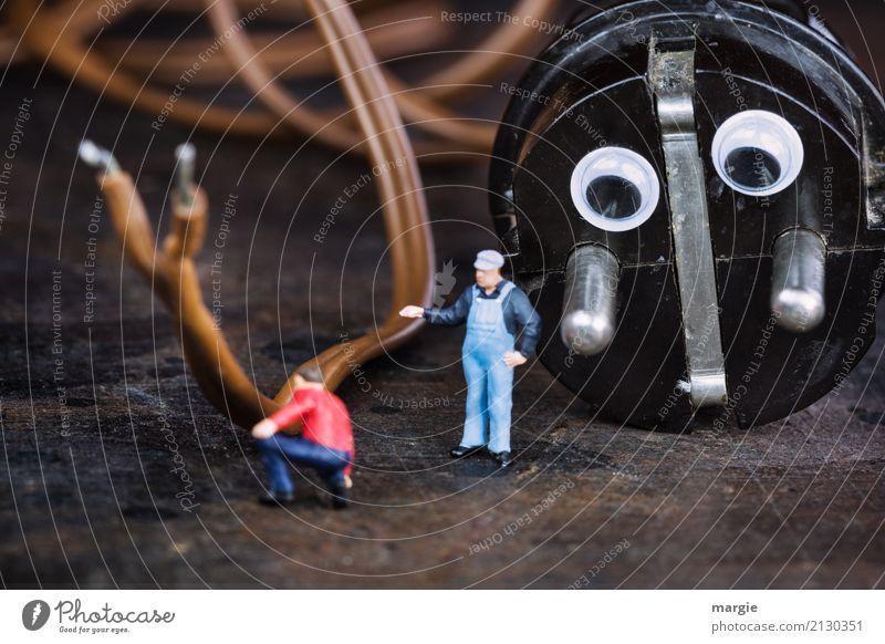 Miniwelten - Er sucht Kontakt Arbeit & Erwerbstätigkeit Beruf Handwerker Arbeitsplatz Baustelle Dienstleistungsgewerbe sprechen Team Werkzeug