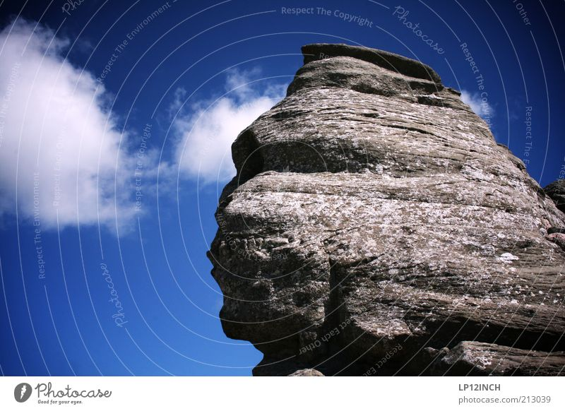 Sfinxul Himmel Natur blau Sommer Wolken Gesicht Umwelt Landschaft Berge u. Gebirge grau Kopf Stein Felsen natürlich außergewöhnlich Schönes Wetter