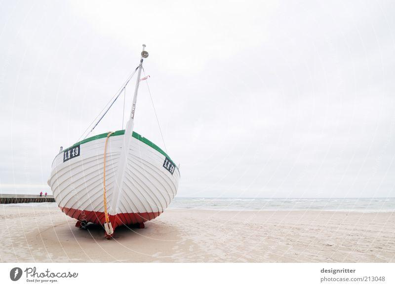 Steife Briese Meer Strand Ferien & Urlaub & Reisen ruhig Einsamkeit Ferne Erholung hell Küste Wind Seil Ausflug Wasserfahrzeug Schifffahrt Nordsee Fischereiwirtschaft