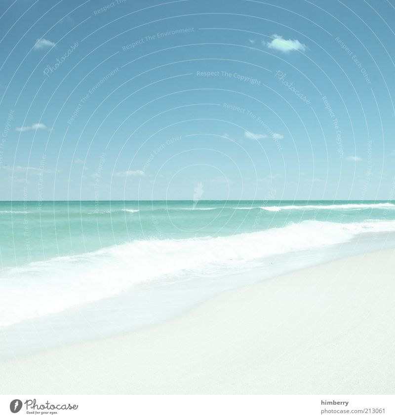 himmel oder erde? Natur Himmel Meer Sommer Strand Ferien & Urlaub & Reisen ruhig Wolken Ferne Erholung Freiheit Landschaft Zufriedenheit Küste Wellen Wetter
