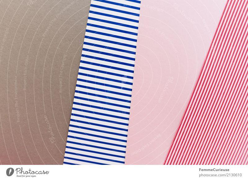 Muster (12) Papier Zettel mehrfarbig grau blau-weiß rosa rot-weiß Vogelperspektive angeordnet Ordnung graphisch Geometrie Rechteck Strukturen & Formen Design
