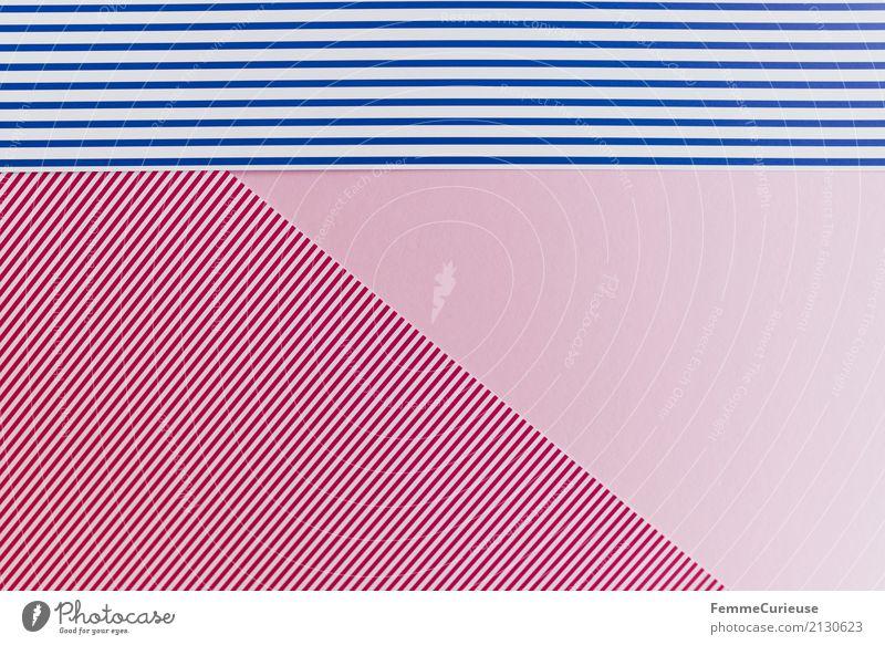 Muster (01) Papier mehrfarbig rot-weiß blau-weiß rosa Streifen gestreift Karton Farbe Farbenspiel einfach Hintergrundbild Basteln Bastelpapier graphisch
