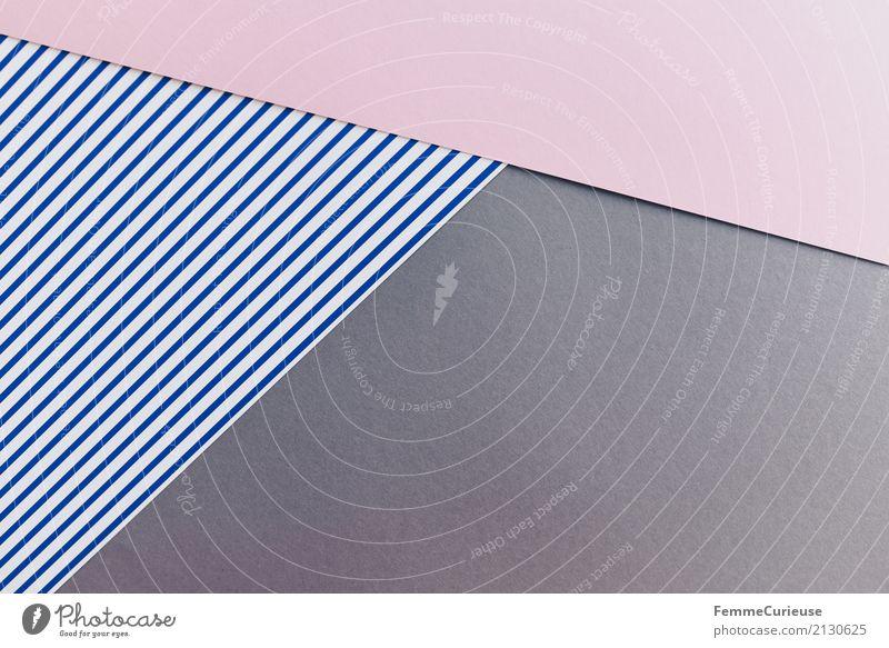 Muster (14) Papier Zettel mehrfarbig Streifen gestreift Farbstoff Vogelperspektive blau-weiß rosa grau graphisch Geometrie Strukturen & Formen Design angeordnet
