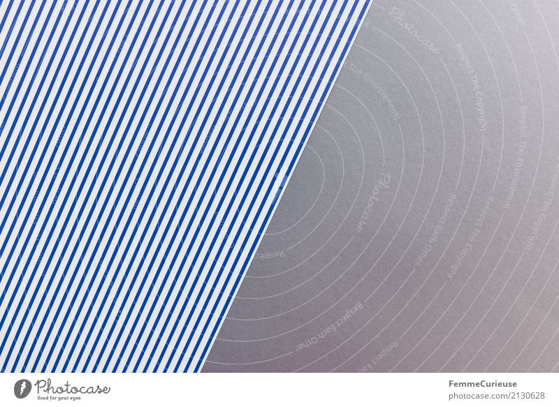 Muster (09) Papier Zettel mehrfarbig blau-weiß grau Vogelperspektive graphisch Geometrie Strukturen & Formen Design Bastelmaterial Rechteck Farbkombination
