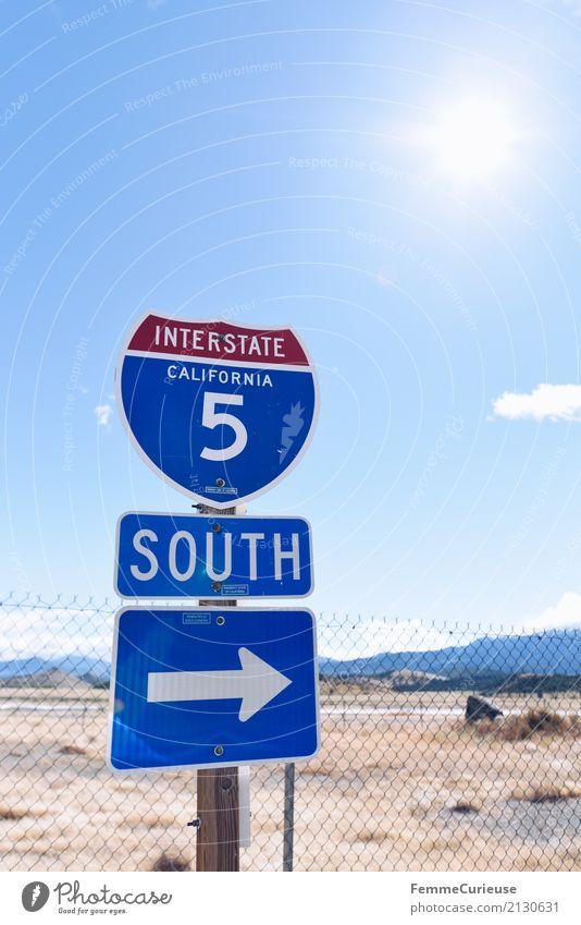 DatenOptionen Roadtrip West Coast USA (322) Zeichen Schriftzeichen Ziffern & Zahlen Schilder & Markierungen Hinweisschild Warnschild Abenteuer interstate 5
