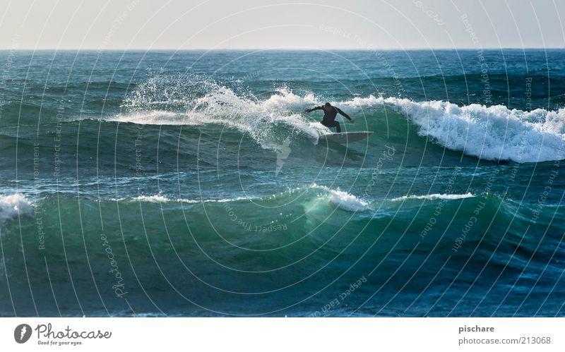 Praia Norte II Mann Natur Wasser blau Sommer Freude Meer Ferne Sport Erwachsene Gesundheit Wellen Freizeit & Hobby ästhetisch Lifestyle Coolness