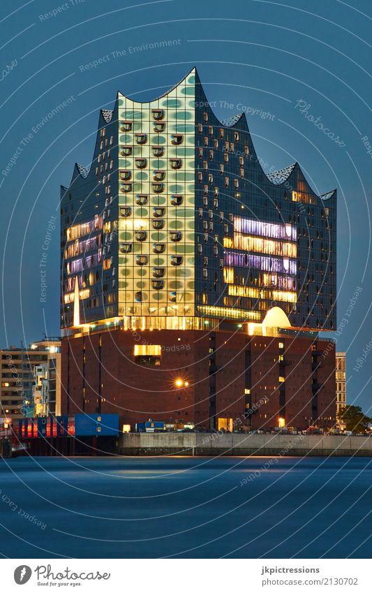 Elbphilharmonie Sommer Stadt Sonne Haus Architektur Gebäude außergewöhnlich Deutschland Design elegant Musik Europa fantastisch hoch Hamburg Sehenswürdigkeit
