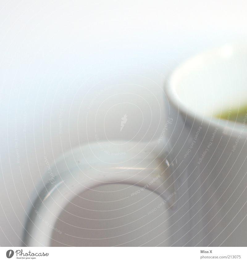 Weiss Lebensmittel Getränk Heißgetränk Kaffee Tee Tasse Becher heiß weiß rein Tragegriff Farbfoto Studioaufnahme Nahaufnahme Detailaufnahme Menschenleer