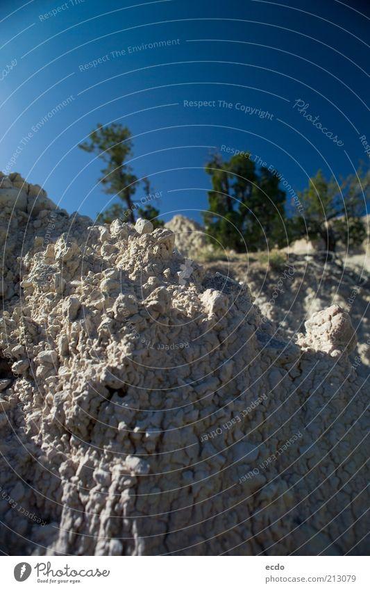 Himmel Natur grün blau Baum Sommer Ferien & Urlaub & Reisen Berge u. Gebirge Umwelt grau Stein Wärme klein Felsen gefährlich natürlich