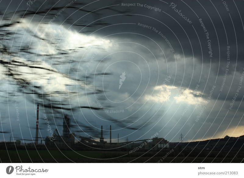 roadmovie 25 Himmel Natur Wolken dunkel Landschaft Wetter Wind Klima Zukunft Industrie Fabrik leuchten Bauwerk Sturm Unwetter Gewitter