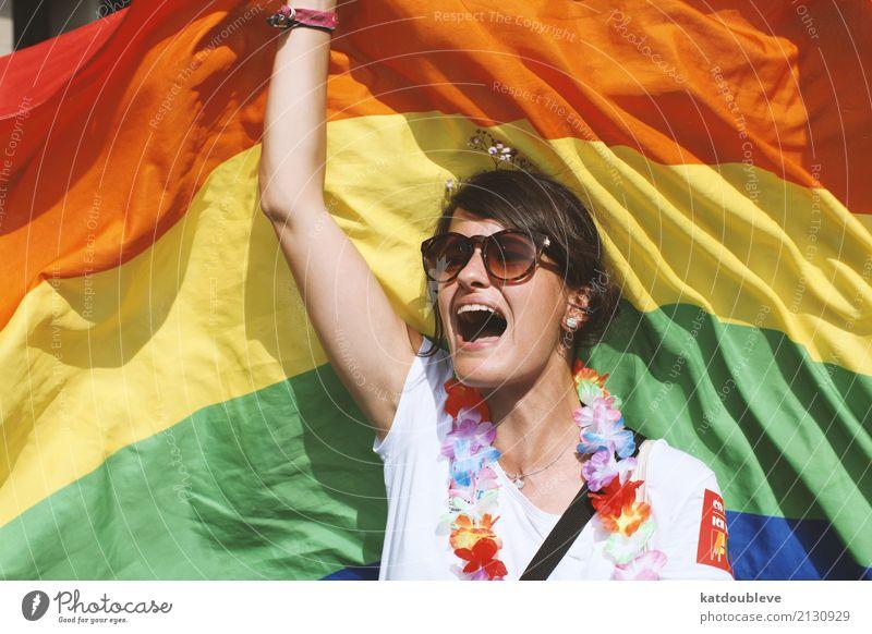 why the hell not?! feminin Homosexualität schreien frech frei Akzeptanz loyal Zusammensein Liebe Solidarität Toleranz Rechtschaffenheit Gerechtigkeit Bewegung