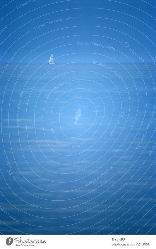 Ostsee (polnische) Himmel blau Ferne Freiheit Hintergrundbild Horizont Segeln Fernweh Segelboot Meer himmelblau Textfreiraum Wasserfahrzeug