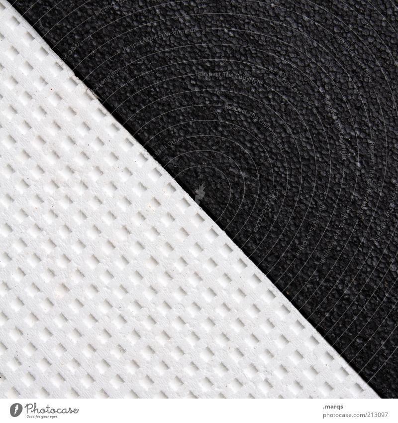 Polystyrol weiß schwarz Hintergrundbild Design einfach Grafik u. Illustration diagonal Verschiedenheit graphisch abstrakt Isolierung (Material) Dinge Textfreiraum links Yin und Yang porös