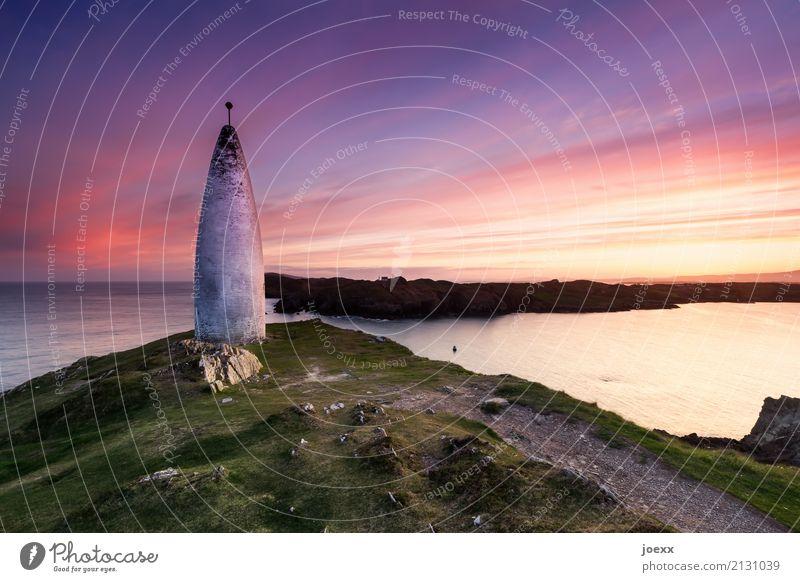 The Beacon Landschaft Himmel Wolken Horizont Sonnenaufgang Sonnenuntergang Schönes Wetter Felsen Berge u. Gebirge Küste Meer Insel Republik Irland Stein alt