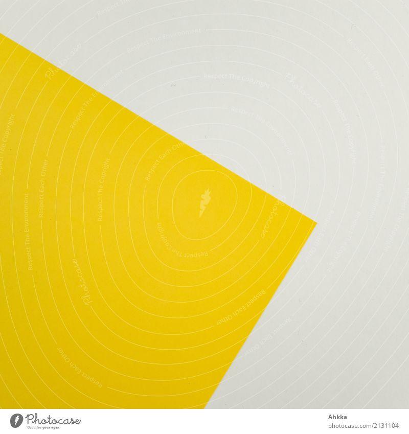 Gelbe Ecke Bildung Wissenschaften Erwachsenenbildung Schule lernen Büroarbeit Arbeitsplatz Schreibwaren Papier Zettel Linie Fröhlichkeit gelb weiß ästhetisch