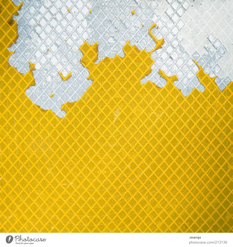 Comb Lifestyle Stil Design Kunststoff Zeichen außergewöhnlich kaputt trashig gelb weiß Farbe skurril Wandel & Veränderung Hintergrundbild Signal Farbfoto