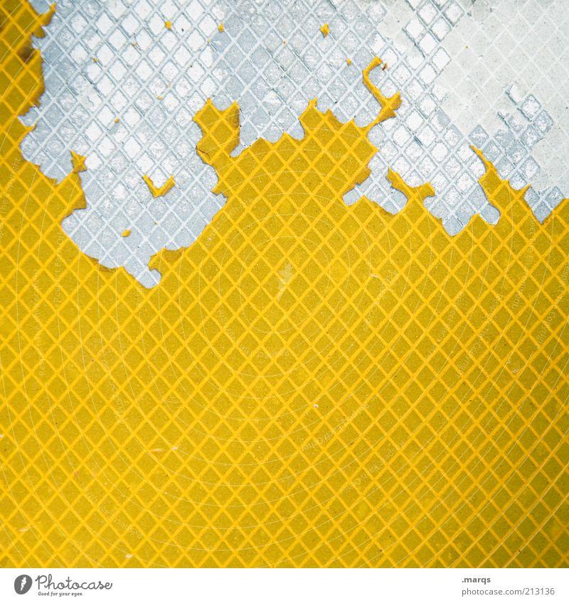 Comb weiß gelb Farbe Stil Hintergrundbild Design Muster Lifestyle kaputt Wandel & Veränderung außergewöhnlich Zeichen Verfall trashig Kunststoff skurril