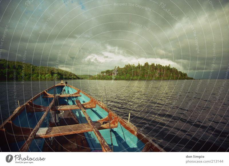 quiet storm Freizeit & Hobby Angeln Bootsfahrt Ferien & Urlaub & Reisen Ausflug Abenteuer Ferne Freiheit Expedition Insel Ruhestand Kahn fahren dunkel kalt