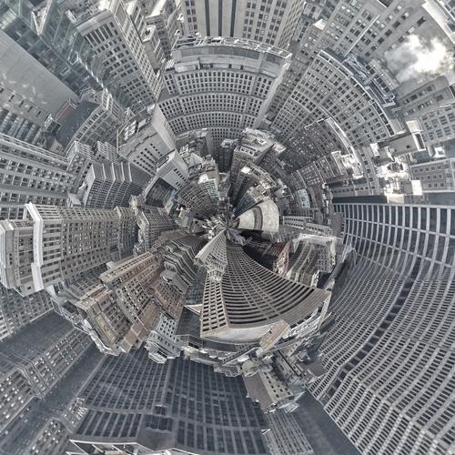 festplatte | zu babel Stadt Architektur Gebäude Kunst Design Hochhaus ästhetisch USA hoch rund Sehenswürdigkeit tief Reichtum bizarr New York City