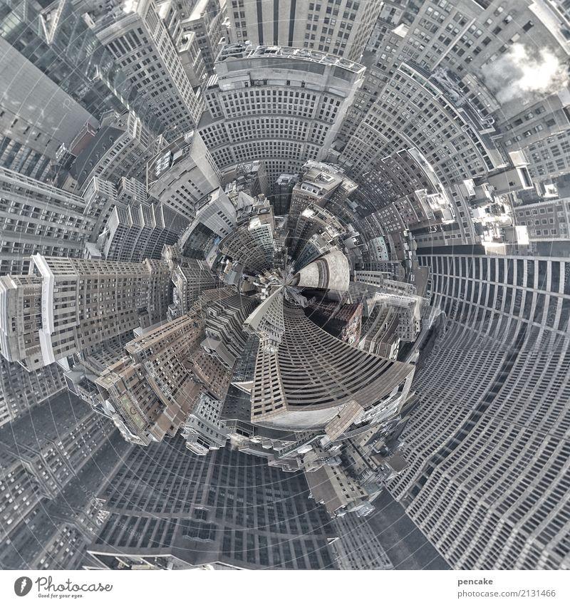 festplatte | zu babel Stadt Hochhaus Gebäude Architektur Sehenswürdigkeit ästhetisch bizarr Design komplex Kunst Reichtum New York City Festplatte USA rund