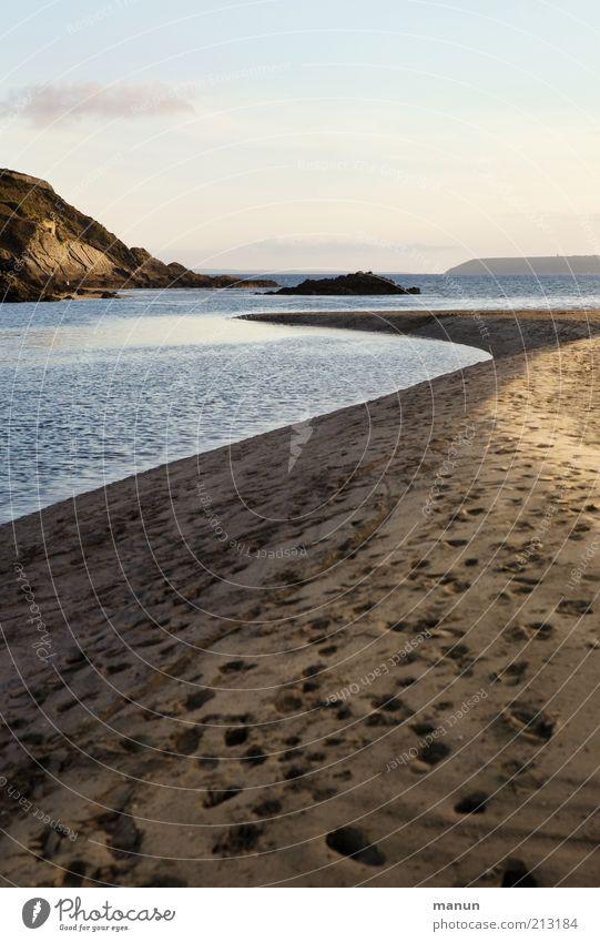 Aber-Lauf Natur Wasser Himmel Sonne Meer Sommer Strand Ferien & Urlaub & Reisen Ferne Berge u. Gebirge Freiheit Sand Landschaft Küste Umwelt Felsen