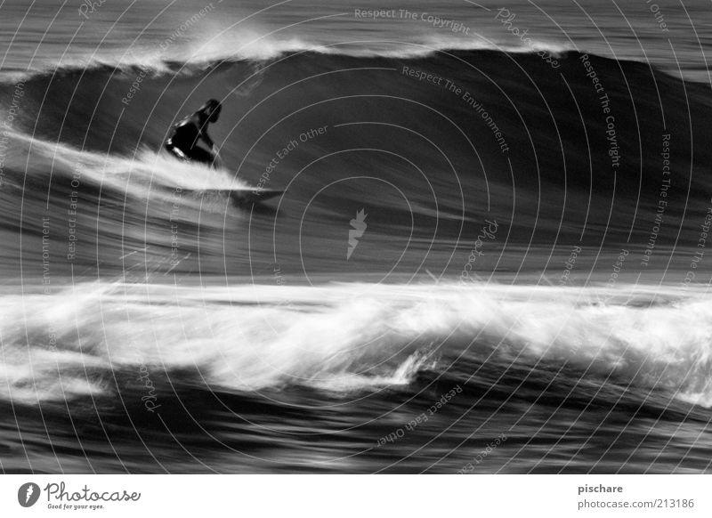 Energy III Mann Wasser Meer Sommer Sport Kraft Wellen Gesundheit Erwachsene Geschwindigkeit Lifestyle ästhetisch Coolness Freizeit & Hobby außergewöhnlich Mut