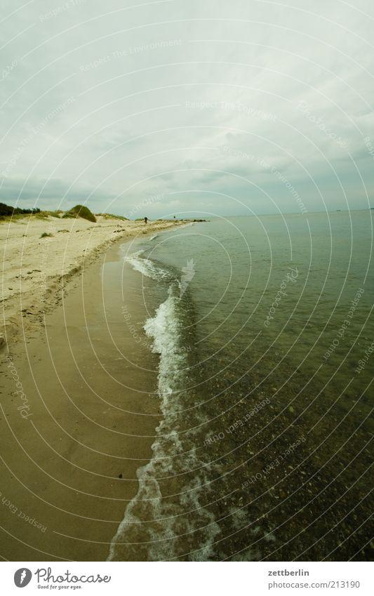 Thiessower Haken Natur Meer Strand Ferien & Urlaub & Reisen ruhig Ferne dunkel Sand Küste Wellen Umwelt Horizont Tourismus Sehnsucht Ostsee Rügen