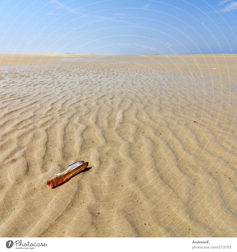 Wattenmeer Natur Wasser Himmel Meer Sommer Strand Ferien & Urlaub & Reisen ruhig Ferne Erholung Sand Landschaft Küste Horizont Insel Muschel