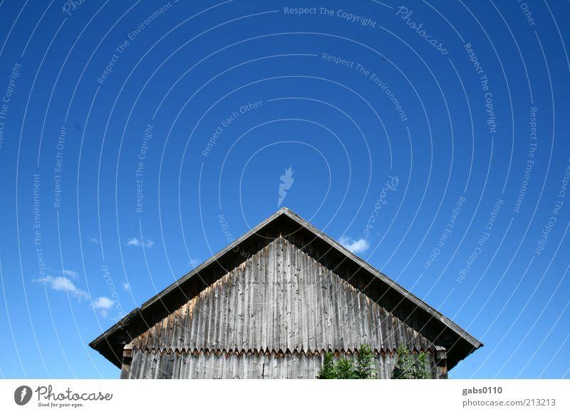 THIS SIDE UP Natur alt Himmel blau Pflanze Sommer Haus Wolken Holz grau braun Wetter Umwelt authentisch Dach Klima