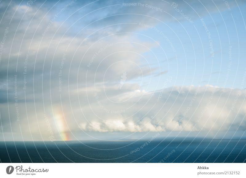 Kurzer Kontakt Gesundheit harmonisch Wohlgefühl Zufriedenheit Sinnesorgane Erholung ruhig Natur Wolken Klima Wetter Meer Regenbogen leuchten Sympathie
