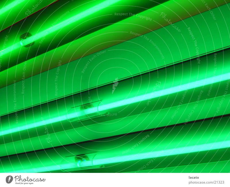 its green Lampe Licht grün Neonlicht Wand Hintergrundbild Strahlung Dinge Lichterscheinung Eisenrohr light