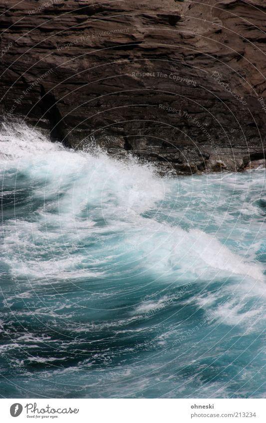 Bewegte See III Natur Wasser Meer Kraft Küste Wellen Energie Felsen wild Bucht Urelemente Brandung Gischt Pazifik Gefühle Wellengang