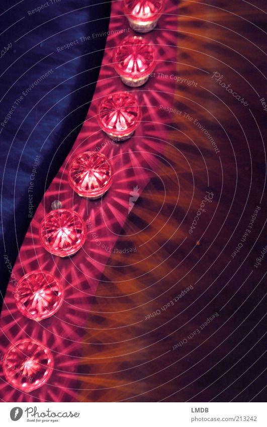 Lampen-Parade 2 blau schwarz gelb Lampe Beleuchtung glänzend rosa rund violett Dekoration & Verzierung leuchten Reihe Jahrmarkt Kurve erleuchten Glühbirne