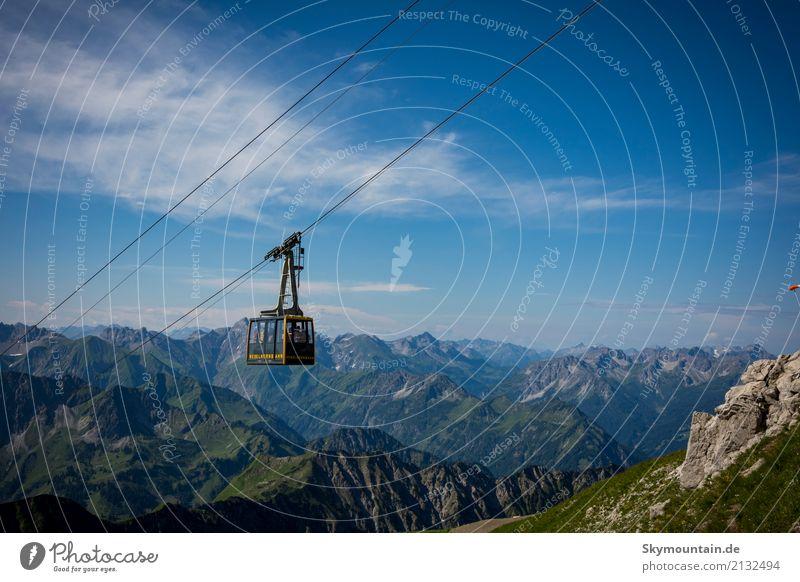 Bergbahn in den Allgäuer Alpen Lifestyle Gesundheit sportlich Fitness Freizeit & Hobby Ferien & Urlaub & Reisen Tourismus Ausflug Abenteuer Ferne Freiheit