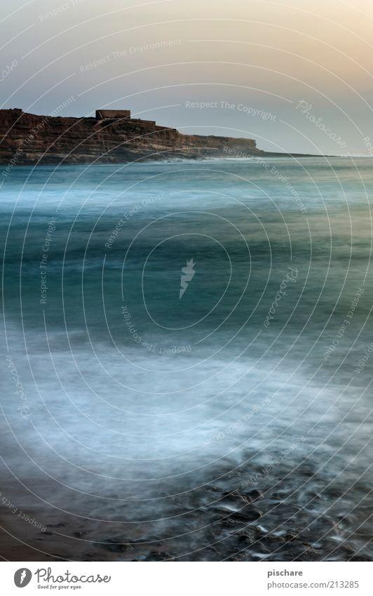 Meeresrauschen Himmel Wasser schön Sommer Landschaft Küste Wellen Felsen ästhetisch Schönes Wetter exotisch Klippe Wasseroberfläche