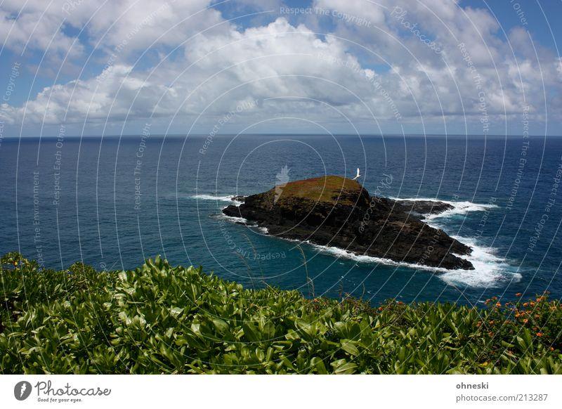 Moku´ae´ae Umwelt Natur Landschaft Urelemente Luft Wasser Himmel Wolken Felsen Küste Meer Pazifik Insel Kauai Unendlichkeit wild blau Einsamkeit Ferne Brandung