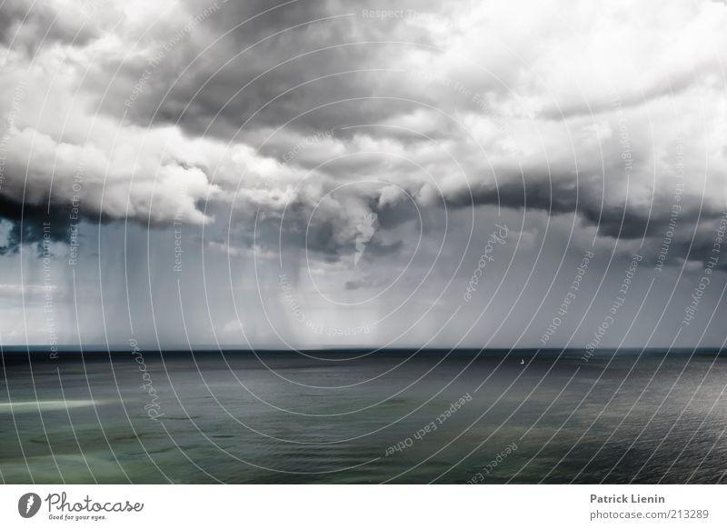 sea of rain Natur Wasser Himmel weiß Meer Wolken Ferne grau Regen Landschaft Luft Küste Wellen Angst Wind Wetter