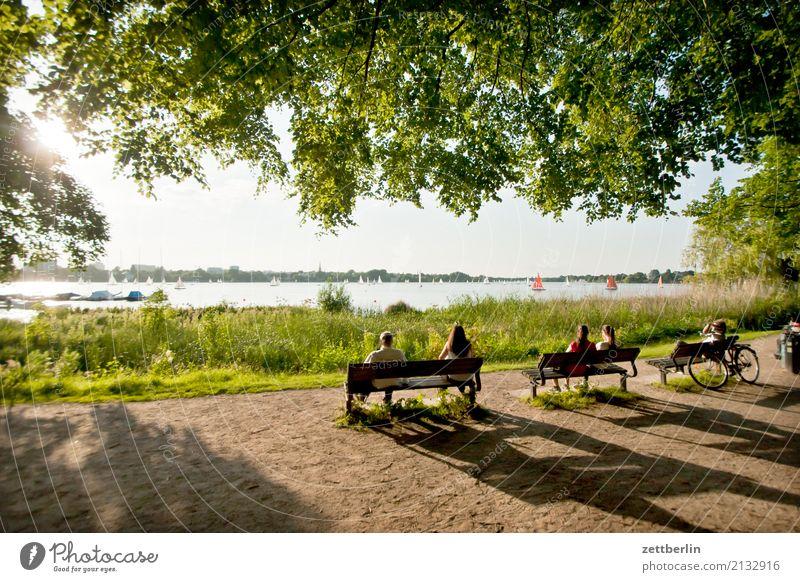 Alster Außenalster Ferien & Urlaub & Reisen Gewässer Großstadt Hamburg Hansestadt Himmel Himmel (Jenseits) Natur Sommer Stadt Stadtbewohner Stadtteil Tourismus