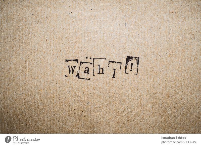 wähl! Entschlossenheit Text wählen Wahlen Entscheidung unentschlossen Typographie Schriftzeichen Holz Stempel Parteien wichtig entschieden Parlament Regierung