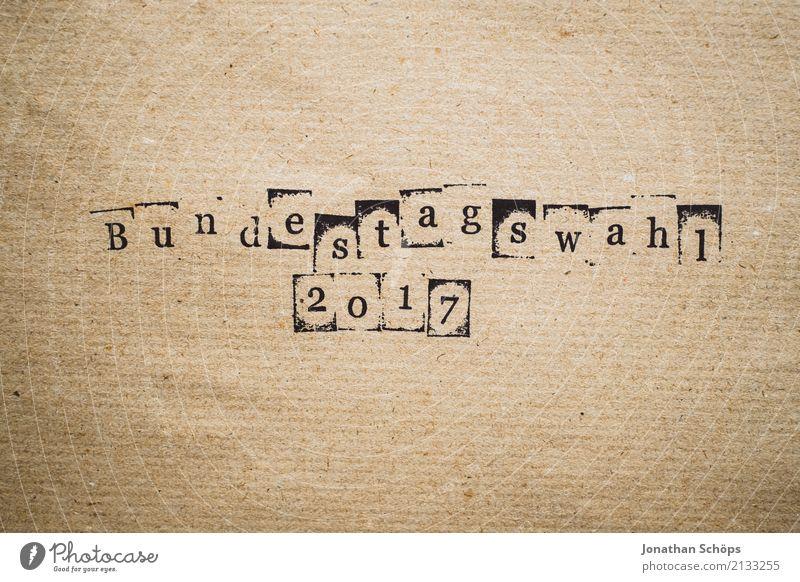 Bundestagswahl 2017 Holz Schriftzeichen Typographie wählen Gesetze und Verordnungen Text Stempel Wahlen Entscheidung demokratisch Entschlossenheit Demokratie