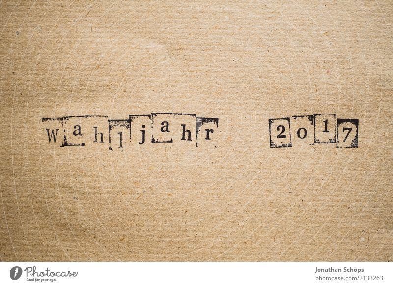 Wahljahr 2017 Schriftzeichen Typographie wählen Gesetze und Verordnungen Text Politik & Staat Stempel Wahlen Entscheidung Entschlossenheit demokratisch