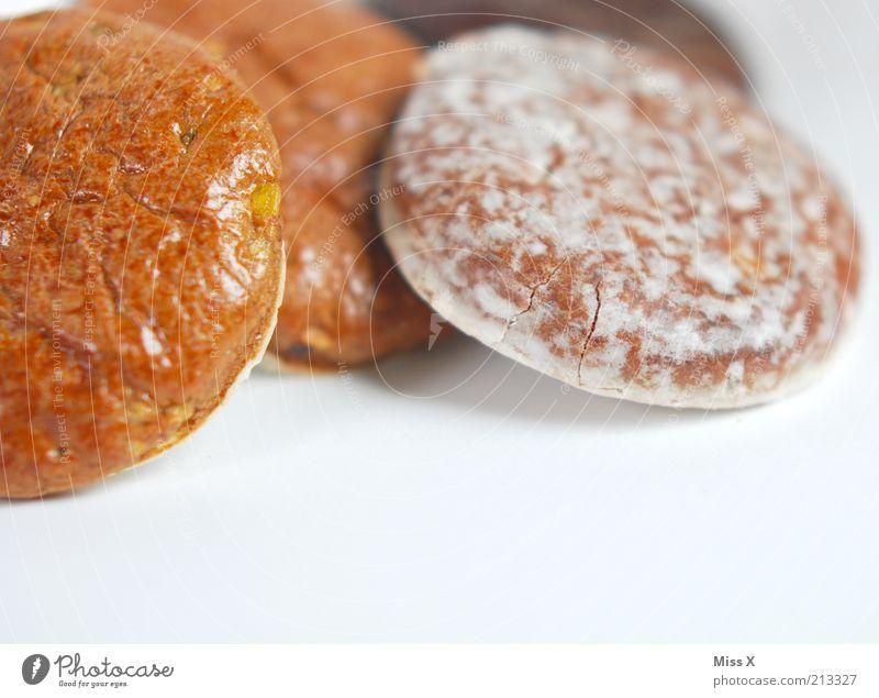 Vorfreude Lebensmittel Teigwaren Backwaren Süßwaren Schokolade Ernährung Duft lecker rund süß Lebkuchen Zuckerguß Farbfoto mehrfarbig Studioaufnahme Nahaufnahme