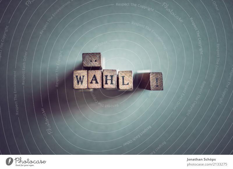 wähl! Holz Schriftzeichen Typographie Gesetze und Verordnungen Text wählen Stempel Entscheidung Wahlen Entschlossenheit Regierung demokratisch Parlament
