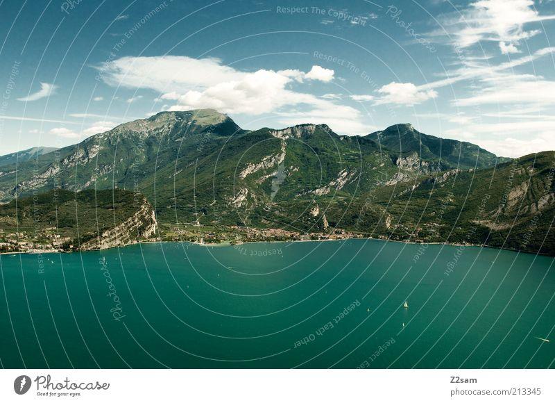 Fast Bayern Umwelt Natur Landschaft Wasser Himmel Wolken Sommer Alpen Berge u. Gebirge See Erholung Ferien & Urlaub & Reisen ästhetisch Ferne gigantisch groß