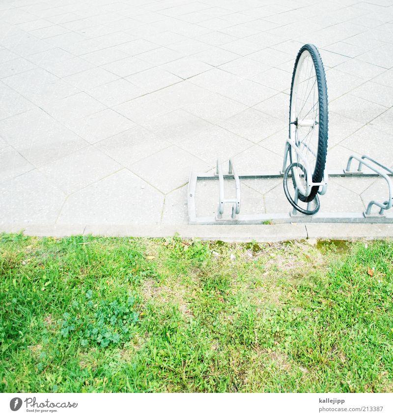 die haben doch ein rad ab! Gras Fahrrad außergewöhnlich Rad Schloss Dieb Kriminalität verlieren Rest Diebstahl Versicherung vermissen fehlen