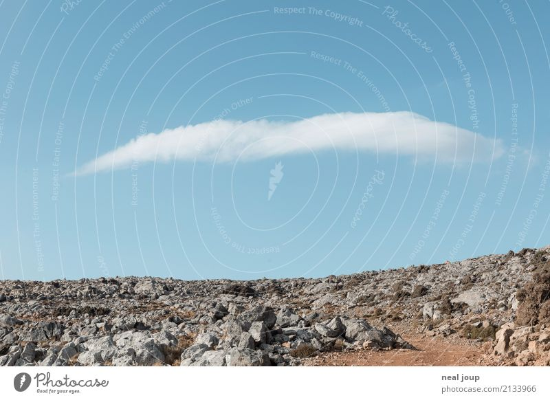Cloud No. 9 Berge u. Gebirge Landschaft Himmel Wolken Horizont Felsen träumen blau elegant Endzeitstimmung einzigartig Klima Leichtigkeit Symmetrie Schweben