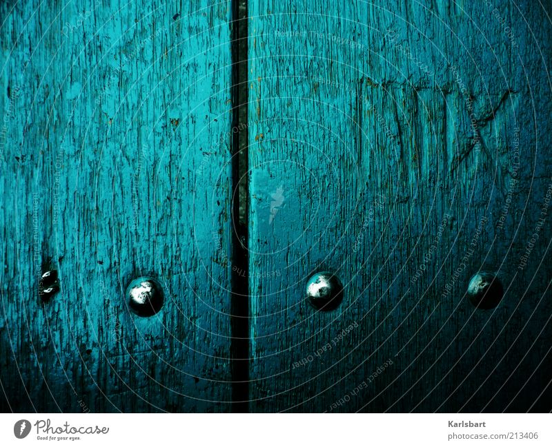 MIIX. blau Stil Holz Linie Metall Schilder & Markierungen Schriftzeichen Ziffern & Zahlen Zeichen Kreuz Holzbrett Oberfläche Möbel Hinweis Niete Vogelperspektive