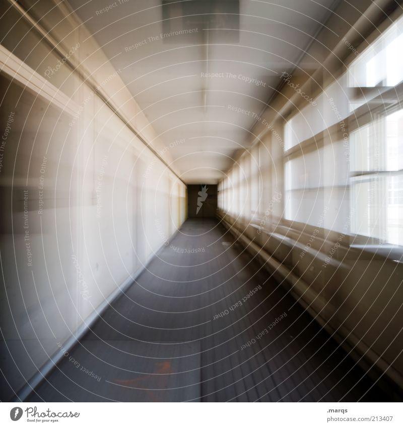 Ab durch die Mitte Gefühle Bewegung Wege & Pfade Angst verrückt rennen Geschwindigkeit abstrakt Zukunft bedrohlich Innenarchitektur außergewöhnlich Flur Panik Eile